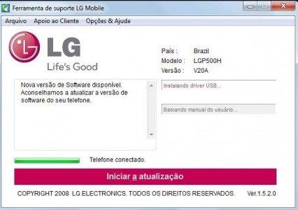LG como atualizar o android